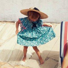 Louise Misha Dress Lyka Emerald Flowers ルイーズミーシャ 袖フリルワンピース(エメラルドフラワー)