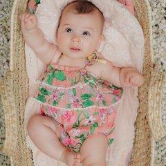 Louise Misha Baby Rompers Kumal Sienna Flamingo ルイーズミーシャ フリルロンパース(フラミンゴ)
