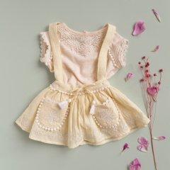 Louise Misha Baby Skirt Riola French Vanilla ルイーズミーシャ 肩紐付きスカート(フレンチバニラ)