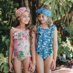 Louise Misha Baby Bathing Suit Mosillos Emerald Flowers ルイーズミーシャ スイムウェア(エメラルドフラワー)