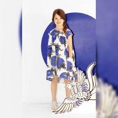 【SALE20%OFF】KENZO JAHNAELLE 01. OPTIC WHITE 半袖ワンピース(ホワイト/ブルー)