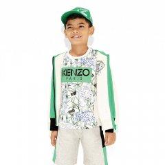 【SALE20%OFF】KENZO JIMMY 01. OPTIC WHITE 半袖Tシャツ(ホワイト/グリーン)