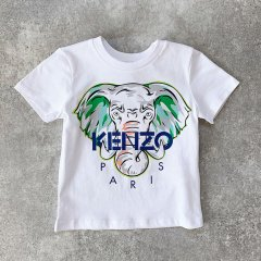 【SALE20%OFF】KENZO JAMES 01. OPTIC WHITE 半袖Tシャツ(ホワイト/エレファント)