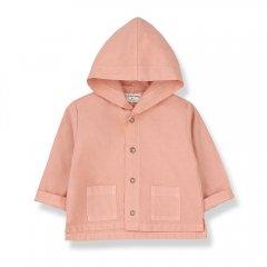 1 + in the family BASTIA  jacket rose ワンモア イン ザ ファミリー フード付きジャケット(ローズ)
