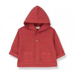 【SPECIAL15%OFF】1 + in the family BASTIA  jacket red ワンモア イン ザ ファミリー フード付きジャケット(レッド)