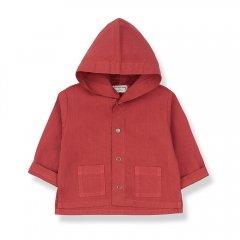 1 + in the family BASTIA  jacket red ワンモア イン ザ ファミリー フード付きジャケット(レッド)