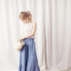 【SALE20%OFF】tocoto vintage Sleeveless flower blouse FLOWERS トコト ヴィンテージ ノースリーブ花柄ブラウス(ホワイト)