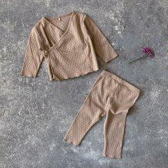 【SALE20%OFF】Play Up Cardigan+Pants プレイアップ プレイアップ カーディガン+パンツセット(ベージュ)