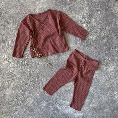 【SALE20%OFF】Play Up Cardigan+Pants プレイアップ カーディガン+パンツセット(ブラウン)