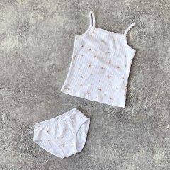 【SALE20%OFF】Play Up Top+Underpants プレイアップ キャミソール+ショーツセット(ホワイト/マスタード)