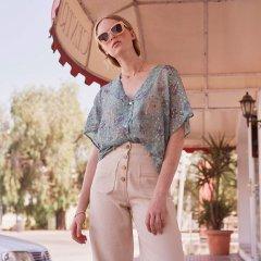 Louise Misha Jeans Malibu White ルイーズミーシャ フロントボタン&ポケットジーンズ(オフホワイト)