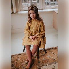 Louise Misha Baby Dress Suenna Spicy ルイーズミーシャ フリルスタンドカラー刺繍長袖ワンピース(スパイシー)