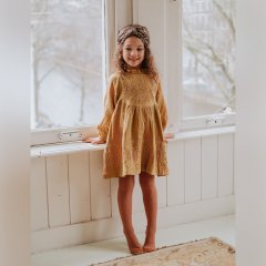 Louise Misha Dress Suenna Spicy ルイーズミーシャ フリルスタンドカラー刺繍長袖ワンピース(スパイシー)