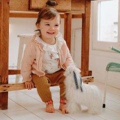 Louise Misha Baby Leggings Moldavia Spicy ルイーズミーシャ ポンポン付ニットレギンス(スパイシー)