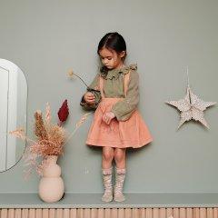 Louise Misha Baby Skirt Eleonor Sienna Velvet ルイーズミーシャ 肩紐付きベルベッドスカート(ピンク)