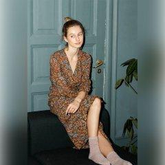 Louise Misha Dress Anouchka Bronze Folk Flowers ルイーズミーシャ 長袖ラップワンピース(ブロンズフォークフラワー)