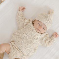 Quincy Mae Cable Knit Sweater pebble クインシー メイ ケーブルニットセーター(ペブル)