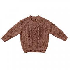 Quincy Mae Cable Knit Sweater clay クインシー メイ ケーブルニットセーター(クレイ)