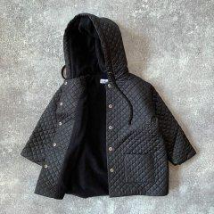 Christina Rohde Jacket No. 516 クリスティーナ ローデフード付キルティングジャケット(ブラック)