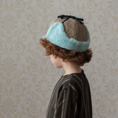 Popelin Stone reversible hat with earflaps ポペリン イヤーフラップ付リバーシブルハット(ストーン)