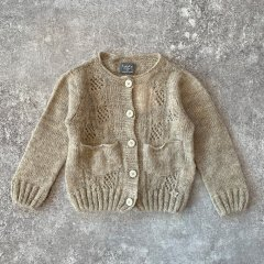 tocoto vintage Baby Open-work ribbed knit cardigan BEIGE トコト ヴィンテージ カットワークニットカーディガン(ベージュ)
