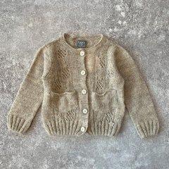 tocoto vintage Open-work ribbed knit cardigan BEIGE トコト ヴィンテージ カットワークニットカーディガン(ベージュ)