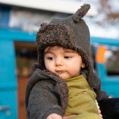 Riffle Amsterdam winter hat quilt forest リフル アムステルダム 耳付キルティングパイロットキャップ(フォレスト)