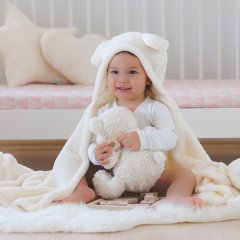 the little BARiNE Fleece Baby Blancket ザ リトル バリーネ フリースブランケット(バニーホワイト)