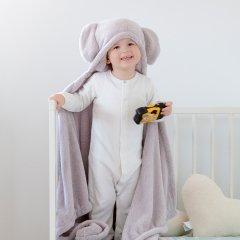 the little BARiNE Fleece Baby Blancket ザ リトル バリーネ フリースブランケット(エレファントグレー)