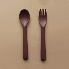 cink Bamboo Cutlery Set Beet サンク バンブースプーン&フォークセット(ビート)