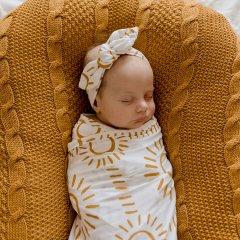 LUNA'S TREASURES SOLEIL jersey topknot headband newborn ルナズ トレジャーズ ジャージヘアバンド(ソレイル)