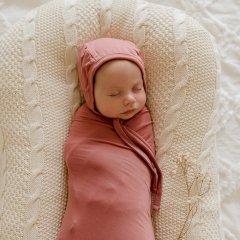 LUNA'S TREASURES MAUVE ROSE jersey bonnet ルナズ トレジャーズ ジャージボンネット(モーブローズ)