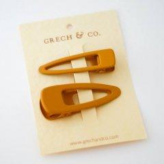 Grech & Co.  Matte Clips Set of 2 golden グレッチアンドコー ヘアクリップ2点セット(ゴールデン)