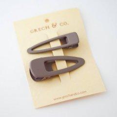 Grech & Co.  Matte Clips Set of 2 stone グレッチアンドコー ヘアクリップ2点セット(ストーン)