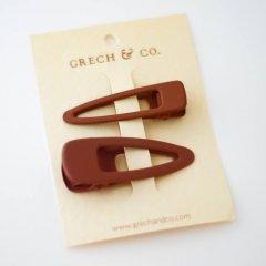 Grech & Co.  Matte Clips Set of 2 rust グレッチアンドコー ヘアクリップ2点セット(ラスト)
