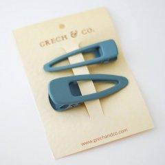 Grech & Co.  Matte Clips Set of 2 light blue グレッチアンドコー ヘアクリップ2点セット(ライトブルー)