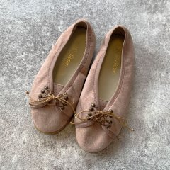 Belle Chiara JUDY SHOES Suede Nude ベルキアラ レースアップシューズ(ヌード)
