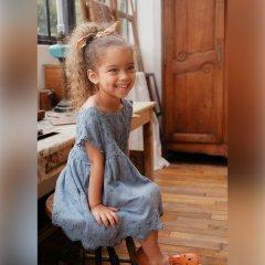 Louise Misha Baby Dress Leilani Storm Plumetis ルイーズミーシャ 刺繍スカラップノースリーブワンピース(ストーム)