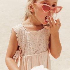 Louise Misha Baby Dress Paolina Blush ルイーズミーシャ サイドリボン刺繍ノースリーブワンピース(ブラッシュ)
