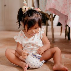 Louise Misha Baby Dress Amita Off-White Flowers ルイーズミーシャ フリルショルダー花柄ワンピース(オフホワイト)