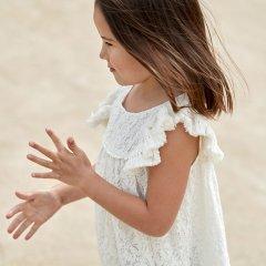 Louise Misha Baby Dress Janice Cream Lace ルイーズミーシャ フリルショルダー総レースワンピース(クリーム)