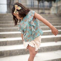Louise Misha Shorts Saratoga Blush Psyche Lurex ルイーズミーシャ 金糸刺繍ショートパンツ(ルレックス)