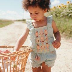 Louise Misha Shorts Malaika Almond ルイーズミーシャスカラップ刺繍タッセルリボンショートパンツ(アルモンド)
