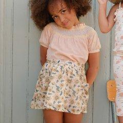 Louise Misha Baby Skirt Dollina Cream Flowers ルイーズミーシャ 花柄ミディスカート(クリームフラワー)