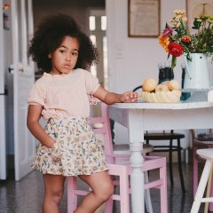 Louise Misha Skirt Dollina Cream Flowers ルイーズミーシャ 花柄ミディスカート(クリームフラワー)