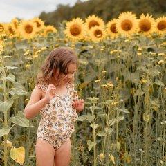 Louise Misha Baby Bathing Suit Mosillos Cream Flowers ルイーズミーシャ 花柄スイムウェア(クリームフラワー)