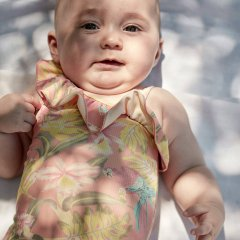 Louise Misha Baby Bathing Suit Audrey Sienna Parrots ルイーズミーシャ アシンメトリー花柄スイムウェア(シエナパロット)
