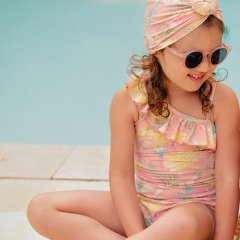 Louise Misha Bathing Suit Audrey Sienna Parrots ルイーズミーシャ アシンメトリー花柄スイムウェア(シエナパロット)