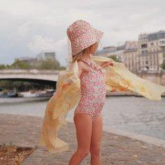 Louise Misha Baby Bathing Suit Audrey Pink Meadow ルイーズミーシャ アシンメトリー花柄スイムウェア(ピンクメドゥ)