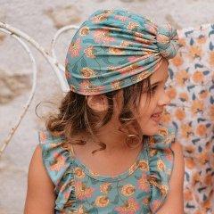 Louise Misha Baby Bathing Turban Sylvania Turquoise Flowersルイーズミーシャ ターバンキャップ(ターコイズフラワー)